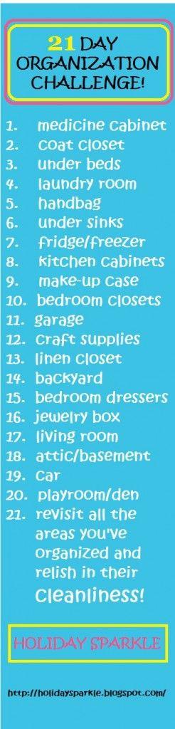 21 Day Organization Challenge