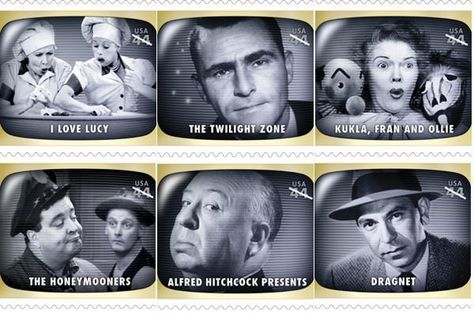 Some of the classic television shows featured in the new stamp
