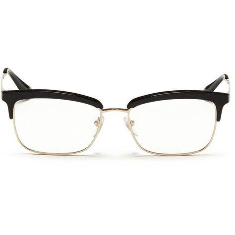 3ca0574b3db Prada Acetate rim metal optical glasses ( 345) ❤ liked on Polyvore  featuring accessories