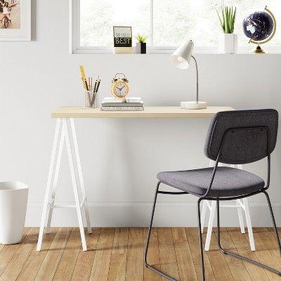 trestle desk white room essentials products white desks rh pinterest com au