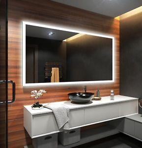 Led Illuminated Bathroom Mirror Battery Operated To Measure Custom Size L01 Mirror Wall Bathroom Led Mirror Bathroom Backlit Bathroom Mirror