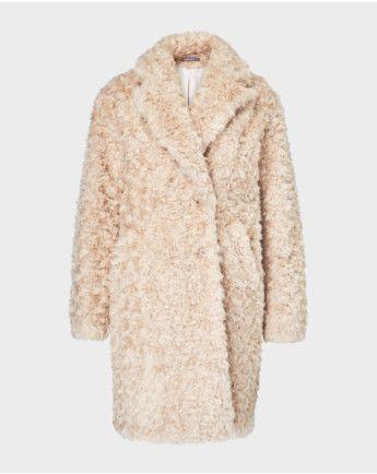 O Shape Mantel aus Fake Fur | Pelz, Pelzjacke und Hallhuber