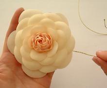 Камелия..Мастер-класс цветка Коко - Perchinka63