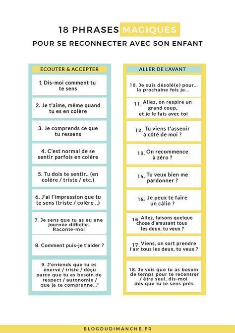 16 phrases magiques pour se reconnecter avec son enfant
