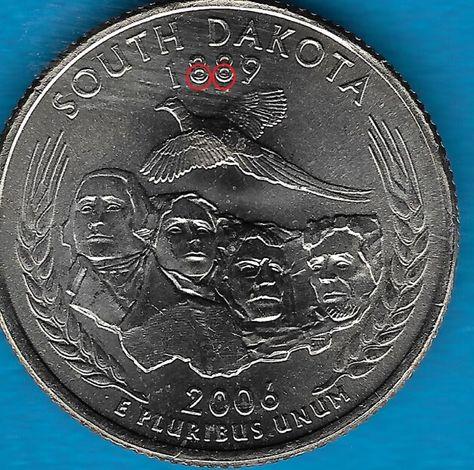 2006D SOUTH DAKOTA STATE QUARTER