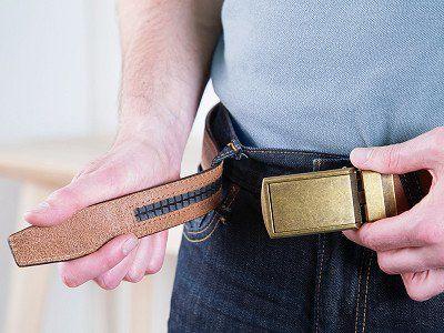 Vegan Slidebelts Men/'S Leather Ratchet Belt Black Leather With Black Buckle