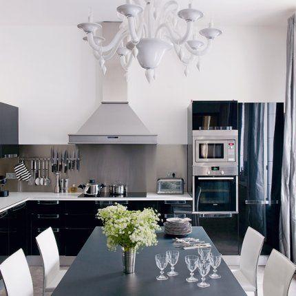20 inspirations pour une cuisine noire et blanche Mix style, Small