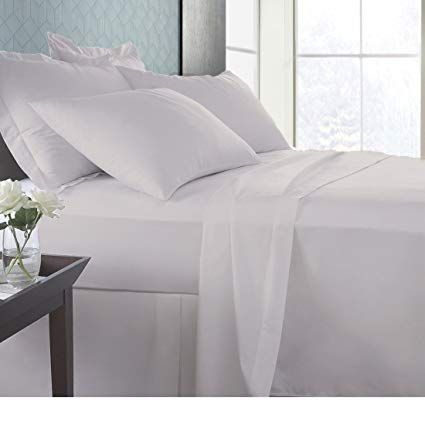 """Luxurious Bedding Set All Size Ivory Solid Pure Cotton 600 Thread Count 6/"""" Deep"""
