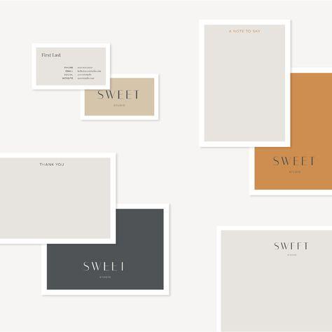 Sweet Print Mix — The Business Bar  #semicustom #branding #brand #branddesign #businesscards #collateral