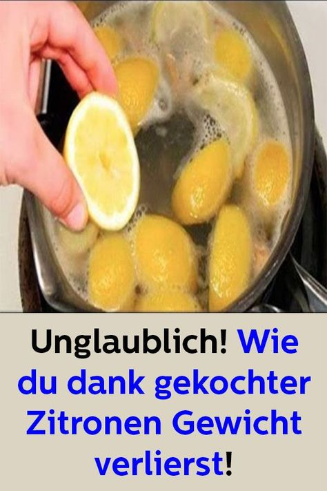 Mit gekochter Zitrone abnehmen