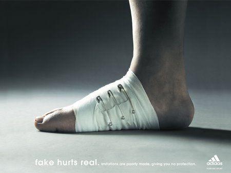 Profecía Estereotipo Inclinado  Advertising Campaign : Creative Adidas ad - Fake hurts real... Advertising  Campaign Inspiration Creative Adida…   Adidas ad, Shoe advertising, Creative  advertising