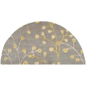 Surya Athena Mustard Semicircular Indoor Floral Botanical Tropical Handcrafted Area Rug Lowes Com Wool Area Rugs Area Rug Collections Floral Area Rugs