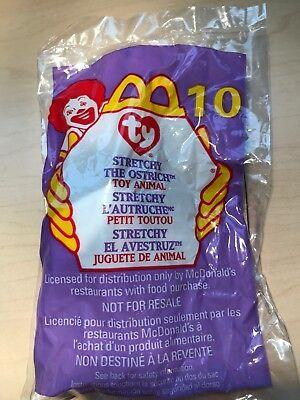 Stretchy The Ostrich #10 Ty Teenie Beanie Baby McDonald/'s
