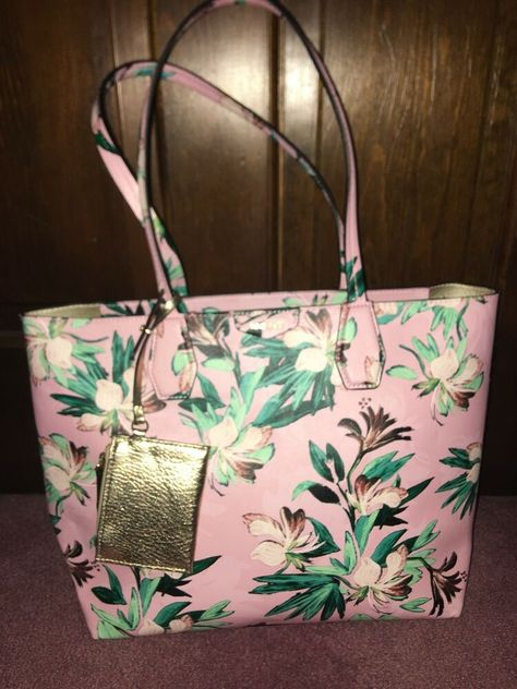 c3e40a642b Nine West Caden Tote Bag Floral flowers Handbag Purse Tropical pink  vacation new  fashion