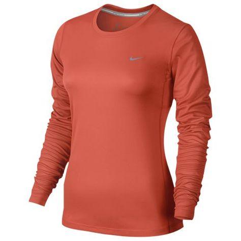 534aeea2 Nike Dri-FIT Miler Long Sleeve T-Shirt - Women's   I'd Rock That ...