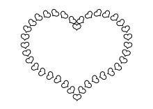 Kleine Herzen Bilden Grosse Herz Bilden Große Herz