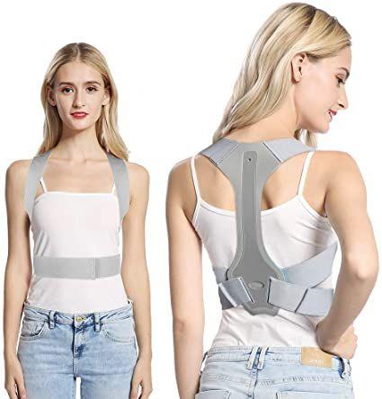 Posture Corrector Back Support For Men And Women Comfortable Ergonomic Design Upper Back Shoulder Trainer Spinal Straighte In 2021 Women Posture Corrector Bad Posture