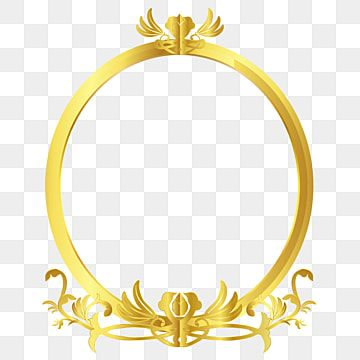 Gold Floral Oval Frame Vines Frame Vector Picture Frame Decorative Yellow Png And Vector With Transparent Background For Free Download Gold Photo Frames Oval Frame Shoe Poster