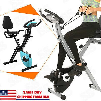 Ad Ebay 2in1 Folding Exercise Bike Machine Indoor Cycling Fitness