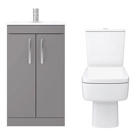 Pleasing Brooklyn Dust Grey Small 4 Piece Suite Bathroom Grey Pdpeps Interior Chair Design Pdpepsorg