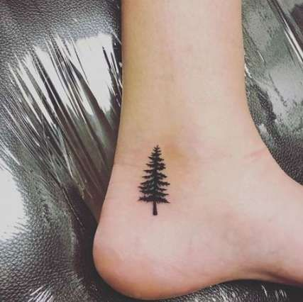 68 Ideas Tiny Pine Tree Tattoo Wrist Tattoos Tree Tattoo Small Small Tattoos