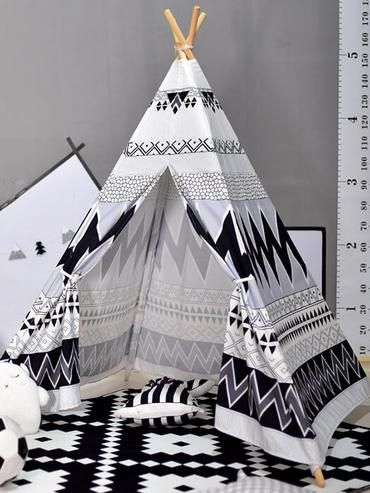 Black And White Teepee Tent Toddler Room Decor Teepee Tent