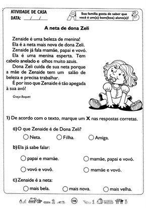 Pin Em Fichas De Leitura