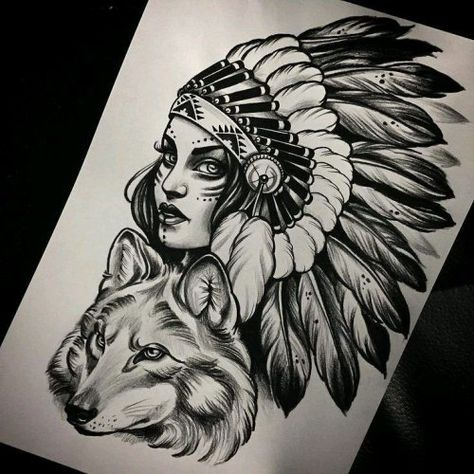 Like the headdress but a different face and wolf