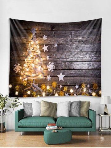 Christmas Tree Star Wooden Tapestry Art Decoration Christmas Tree Star Pretty Wall Art Tapestry Art