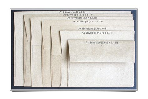 Announcement Size Envelopes - VISUAL GUIDE Envelopes, Envelope - sample a7 envelope template