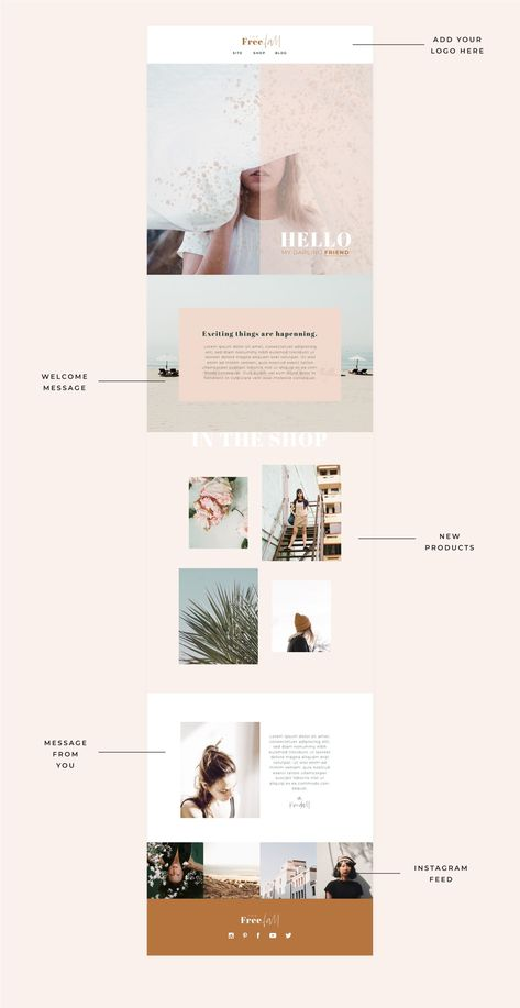 Creative Newsletter, Newsletter Layout, Email Newsletter Design, Email Newsletters, Newsletter Ideas, Template Web, Email Template Design, Website Template, Free Email Templates