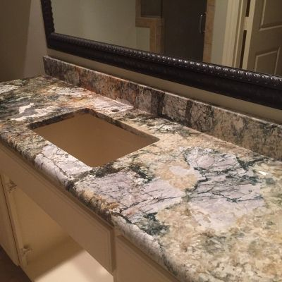 Carpe Diem Granite Bathroom Vanity Countertop Econ Granite Dallas Tx 2144340974 Econgranite Granite Granite Granite Vanity Tops Quartzite
