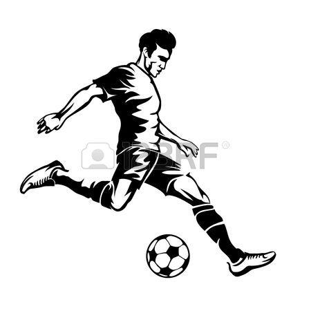 Resultado de imagen para dibujos de jugadores de futbol de espalda a ...
