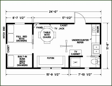 Small Guest House Plans Inspirational 12 X 24 Cabin Floor Plans Tiny House Floor Plans Cabin Floor Plans Guest House Small