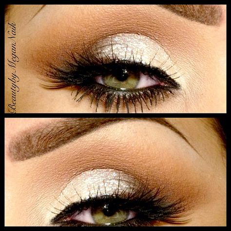 Shimmer eyes @beautybymegannaik