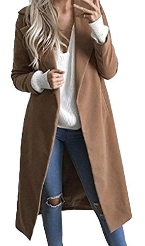 sale retailer 34985 0f45a BLACKMYTH Donna Invernale Trench Cappotto di Lana Linea ...