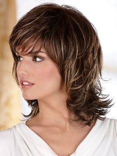 Cortes cabello al hombro para mujer