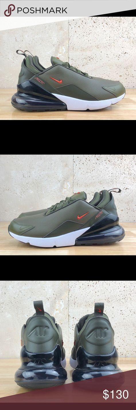 Nike Air Max 270 Premium Leather Green New sz 11 Nike Air