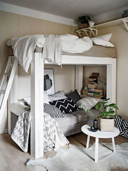 12 Ideas For A Small Well Appointed Room Aboutdecorationblog Bedroom Design Small Bedroom Loft Bed Desk