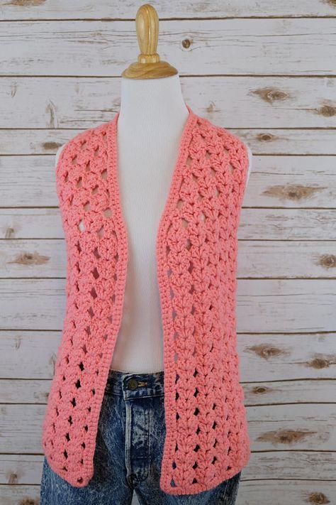 Chunky Crochet Vest