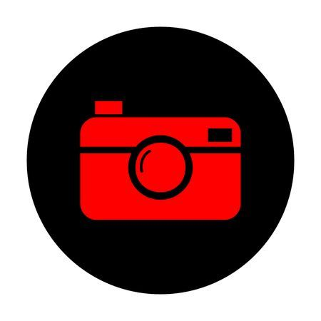 Digital Photo Camera Icon Red Vector Icon On Black Flat Circle Camera Icon Digital Camera Photo Iphone Wallpaper Images