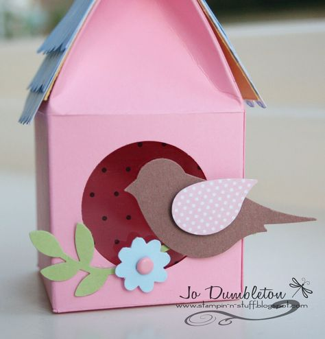 Stampin' 'n Stuff: Birdhouse Tutorial &Template