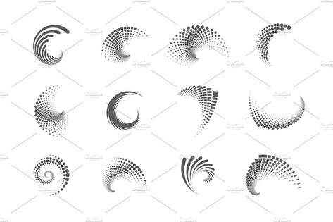 Abstract Swirl Icons #dotted#swirl#icons#abstract People Photos Models