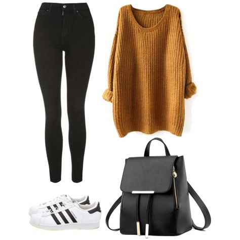 A fashion look from August 2017 featuring Topshop jeans and adidas sneakers. Browse and shop related looks. Teenage Outfits, Teen Fashion Outfits, Mode Outfits, Outfits For Teens, Cute Comfy Outfits, Simple Outfits, Trendy Outfits, Look Skater, Vintage Ski