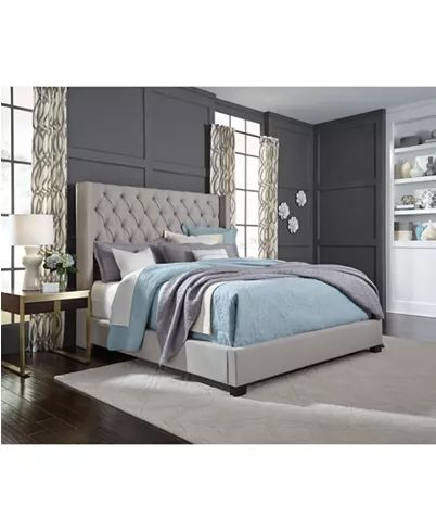 Furniture Monroe Upholstered King Bed Created For Macy S