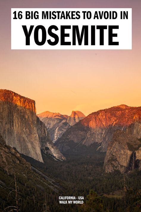 16 mistakes you need to avoid when visiting Yosemite to ensure you have the best. 16 mistakes you need to avoid when visiting Yosemite to ensure you have the best time! Yosemite California, California National Parks, Us National Parks, Zion National Park, California Travel, Death Valley National Park, Visit California, Letchworth State Park, West Coast Road Trip