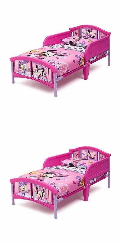 Bedroom Furniture 66742 Disney Minnie Mouse Plastic Toddler Bed