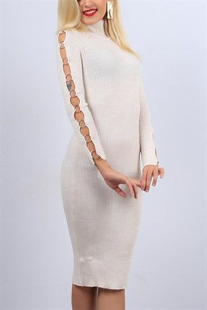 Kol Halkali Tas Baya Triko Elbise 10572b Elbise Modelleri Triko Elbise