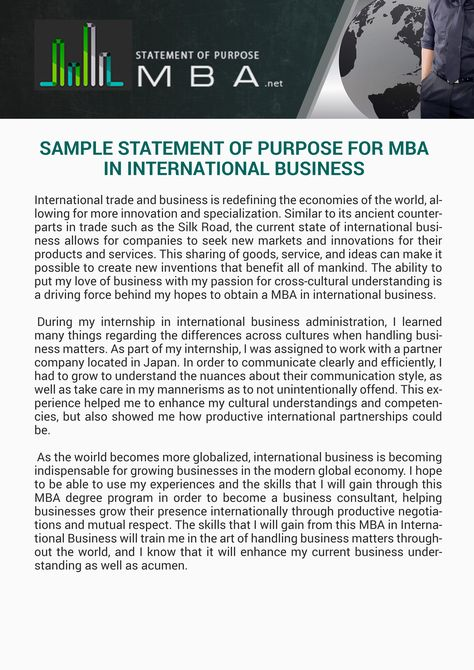 Sample Statement Of Purpose For Mba In International Busines I Right Here You Http Www Stateme Scholarship Essay Example College Application Master Personal