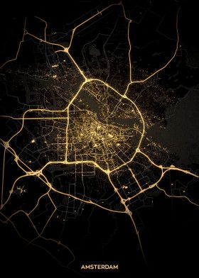 City Lights Poster Print Light Map Liverpool Wall Art Posters